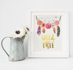 Wild and Free Gold Foil