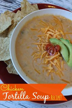 Chicken Tortilla Soup Recipe! | http://www.passionforsavings.com/2014/02/chicken-tortilla-soup-recipe/
