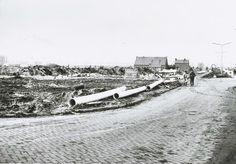 De richting van de Galgenweg gezien vanuit de Kerkhofweg 1973