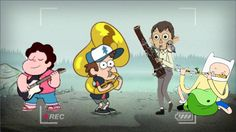 Radical doods band / steven universe, gravity falls, over the garden wall, adventure time