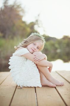 cute pose for little girls on any body of water, docks, decks, front porches, etc.