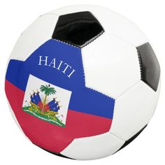 haiti soccer ball - tap to personalize and get yours #soccerball #flags, #port-au-prince, #haiti, #haitian, #flag, Haiti Soccer, Haiti Flag, Soccer Gear, Soccer Ball, Flying Flag, Old Fashioned Games, Flag Shop, Family Fun Night, Permanent Marker