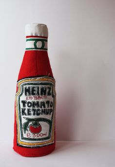 Heinz Tomato Ketchup- Textile Soft Sculpture. £95.00, via Etsy.