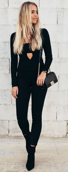 #fall #trending #outfits | All black Everything