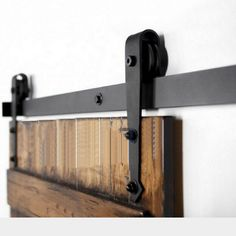Free shipping Solid Wood Sliding Barn Door Hardware Set Sliding Door Roller Rail Steel Tools