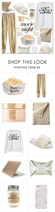"""""""Movie night"""" by mery90 ❤ liked on Polyvore featuring AERIN, Serena & Lily, John Lewis, Tucano, Korres, movieNight and zaful"""
