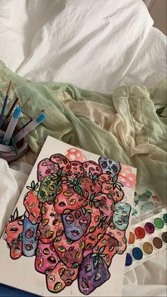 Indie Kunst, Dope Kunst, Indie Art, Pretty Art, Cute Art, Arte Sketchbook, Funky Art, Art Hoe, Wow Art