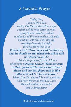 A Parent's Prayer by D.M. NANAN 17-2-2015