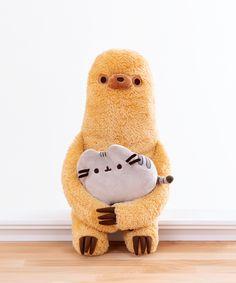 Pusheen and Sloth Plush - 18 Month Anniversary Gift from Dan Cute Stuffed Animals, Dinosaur Stuffed Animal, Cute Animals, Pusheen Stuffed Animal, Chat Pusheen, Pusheen Shop, Pusheen Gifts, Plushies, Kitty