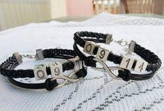 Couples Bracelet, Boyfriend Girlfriend Bracelet Gift,Set of 2 (HIS HERS) Bracelet,Anniversary Gifts, Bridesmaid Bracelet