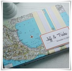 Map Wedding Guest Book... another idea for Jared and Lauren's wedding in Jamaica!