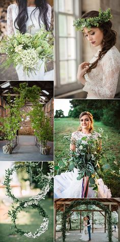Greenery Pantone 2017 Wedding Flower Trends Bouquets Ideas Inspiration | Full images credits in the blog feature |