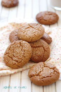 Sabores de colores: Galletas de miel - Honey Cookies - site has a translate button