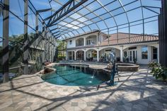 Park Shore Home for Sale in Naples, FL. This gorgeous outdoor living area is fantastic for entertaining, watching dolphins play off the dock, and enjoying sunsets from the western-facing lanai. You will love this house! Click the photos for more info! 315 Pirates Bight, Naples, FL 34103