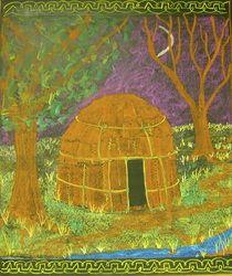 Waldorf ~ 3rd Grade ~ Shelters ~ Chalkboard Drawing