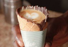 #CoffeeInACone is the newest (and prettiest) way to drink your coffee - HelloGiggles