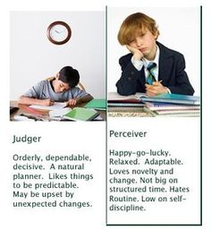 "Myers-Briggs personality test Explaining the ""J"" judger to ""P"""