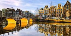 Sunny morning in Amsterdam, Netherlands. Sunny morning on a canal in Amsterdam, , Amsterdam City, Amsterdam Netherlands, Amsterdam Pays, Amsterdam Weed, Grand Parc, Amsterdam Canals, Destinations, Amsterdam Things To Do In, Belle Villa