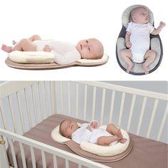 Baby Cribs Forceful Dropship Baby Pillow Infant Newborn Mattress Pillow Baby Sleep Positioning Pad Prevent Flat Head Shape Anti Roll Pillows