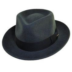 b3c37782c7a69 Men s Scala Classico Wool Felt Fedora - Grey