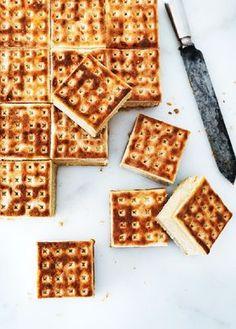 Salted Caramel Cheesecake Sandwiches
