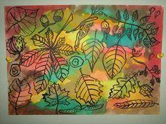 Bukott levelek :: My Shape Art Lessons For Kids, Art Lessons Elementary, Art For Kids, Autumn Leaves Craft, Autumn Art, Fall Art Projects, 3rd Grade Art, Ecole Art, Leaf Crafts