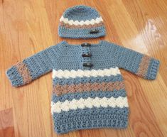 Baby Sweater and Hat/Crochet Baby Sweater and by TheComfyBaby