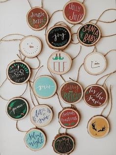 Wood Slice Ornaments Wood Slice Ornaments,Christmas coming Soon Wooden Christmas Ornaments, Homemade Christmas, Diy Christmas Gifts, Rustic Christmas, Christmas Art, Christmas Projects, Christmas Decorations, Diy Ornaments, Homemade Ornaments