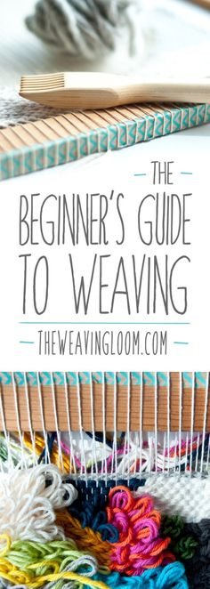 'Beginner's Guide to Weaving.' (via The Weaving Loom) Weaving Art, Weaving Patterns, Tapestry Weaving, Weaving Looms, Fabric Weaving, Knitting Patterns, Weaving Designs, Wall Tapestry, Stitch Patterns