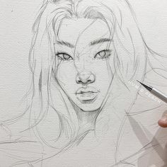 Sketch by Humid Peach. Humid Peach is the name of the artist whose real name is Ksenia Kondyleva. Continue Reading and for more sketch → View Website Girl Drawing Sketches, Cool Art Drawings, Pencil Art Drawings, Realistic Drawings, Portrait Sketches, Drawing Girls, Pencil Sketching, Drawing Faces, Arte Sketchbook