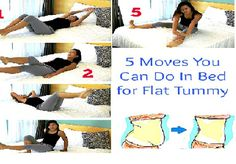 5 Moves for Flat Tummy You Can Do In Your Bed!(Video)