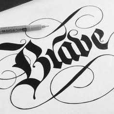 type -  lettering by Drew Melton