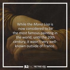 Its much-publicized theft in 1911 helped propel the Mona Lisa to celebrity status #art #monalisa #facts Mona Lisa Facts, Most Famous Paintings, Modern History, Interesting History, History Facts, Celebrity, Art, Art Background, Kunst
