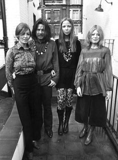 Christine Keeler, David Bailey, Penelope Tree and Marianne Faithfull at the publication of Goodbye Baby and Amen, Bailey's book, 1969 Fashion Models, Fashion Beauty, Goodbye Baby, Colleen Corby, Pattie Boyd, Jean Shrimpton, Marianne Faithfull, David Bailey, Twist And Shout