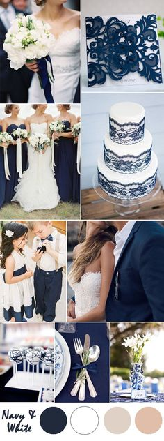 Ten Most Gorgeous Navy Blue Wedding Color Palette Ideas For 2016 2019 blue and white vintage wedding ideas and laser cut wedding invitations The post Ten Most Gorgeous Navy Blue Wedding Color Palette Ideas For 2016 2019 appeared first on Lace Diy. Trendy Wedding, Perfect Wedding, Dream Wedding, Wedding Day, Wedding Flowers, Wedding Blue, Wedding Attire, Wedding Reception, Navy Blue Weddings