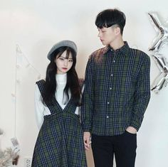 ช ด เ ด ร ส ก บ เ ส อ แ ม ท ช ก น couple fashion in 2019 пара, одежда. Street Jeans, Modern Outfits, Cute Outfits, Ootd Poses, Korean Fashion Work, Matching Couple Outfits, Korean Couple, Ulzzang Couple, Fashion Couple