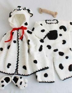 Picture of Spot Romper Set Crochet Pattern