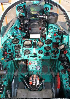 Mig 21-cockpit at Palm Springs Air Museum. this makes me nervous