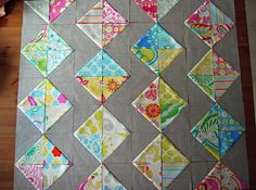 hst quilt in progress by erica's essential suchness, via Flickr