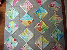 hst quilt in progress by erica's essential suchness, via Flickr
