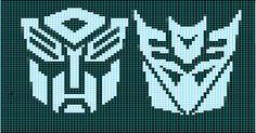 Ravelry: Autobot-Decepticon Matched Charts pattern by Elizabeth Thomas