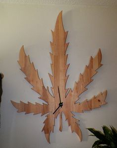 natures own simply beautifully Marijuana  wall clock artist gift positive vibe on Etsy, $259.99