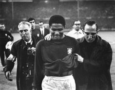 Eusébio in World Cup 1966 England, after lost the semi-final 2 vs 1 Portugal with England.