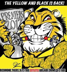 Kelly's Heroes, Richmond Football Club, School Book Covers, New Tattoos, Tigger, Champion, Snoopy, Strong, Yellow