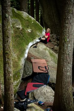 Bouldering - Arc'teryx athlete Mina Leslie-Wujastyk at Squamish Mountain Festival