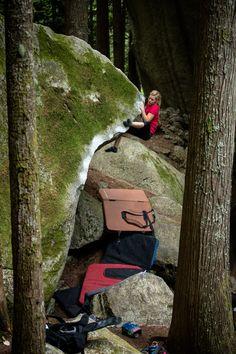 Bouldering - Arc'teryx athlete Mina Leslie-Wujastyk at Squamish Mountain Festival