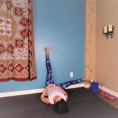 Yin Yoga at the Wall   Yoga to Open Hips Legs Lower Back {30 mins}  Yoga for Grounding & Stabilizing