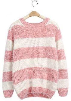 GSHappyGo Women's Casual Round Neck Striped Knitted Loose... https://www.amazon.com/dp/B01KXX5E3Q/ref=cm_sw_r_pi_dp_x_vNcfybZBYJPG6