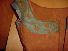 Reverse Leather Applique: a fun detail to add to garb