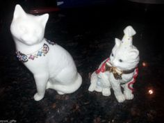 Collectible Lenox Porcelain Cat Figurines Lot of 2 New Year + Jewel Collections